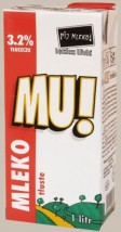 Mleko 'MU' UHT 1 Litr, 3,2%