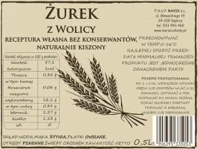 Naturakny Zakwas Żurek z Wolicy Szklana Butelka