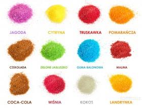 Kolorowy smakowy cukier do waty cukrowej NOWE SMAKI